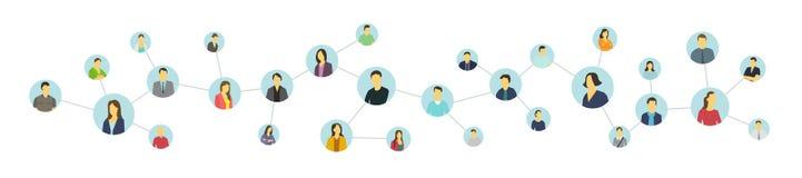 Социальная персона отношения сети Объединенные воплощения Стоковые Изображения RF