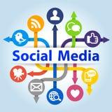 Социальная принципиальная схема средств Стоковые Изображения RF