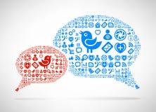 Социальная принципиальная схема средств массовой информации Стоковые Фотографии RF