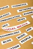 Социальная принципиальная схема средств Стоковое Изображение RF