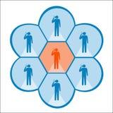 Социальная сеть иллюстрация штока