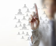 Социальная структура сети Стоковые Фото