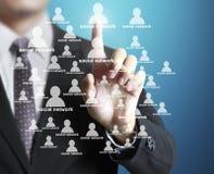 Социальная структура сети Стоковая Фотография RF