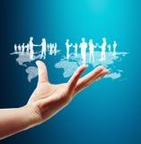Социальная структура сети Стоковая Фотография