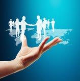 Социальная структура сети Стоковые Изображения