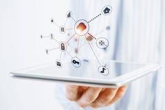 Социальная структура сети Стоковое Изображение