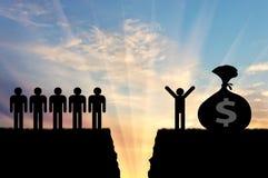 Социальное неравенство между богатыми бедными человеками Стоковая Фотография