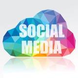 Социальное облако средств Стоковая Фотография RF