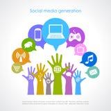 Социальное поколение средств массовой информации Стоковые Фото