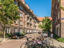 Социальное снабжение жилищем в Амстердаме, Голландии Стоковое Фото