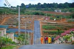 Социальное снабжение жилищем под Кот-д'Ивуар конструкции Стоковые Изображения RF