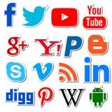 Социальное PNG apps сети средств массовой информации Стоковое Изображение RF