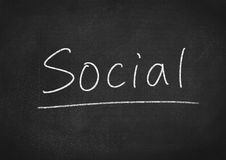 социально стоковое изображение rf