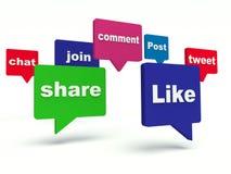 Социальные знаки сети иллюстрация вектора