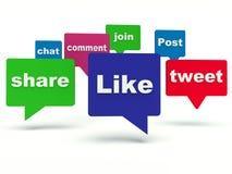 Социальные знаки сети иллюстрация штока