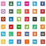 Социальные значки логотипа деловой компании средств массовой информации Стоковая Фотография RF