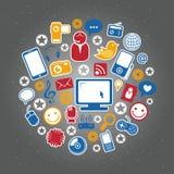 Социальные значки сети Стоковые Фотографии RF