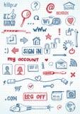 Социальные значки сети Стоковые Фото
