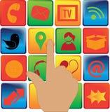 Социальные значки средств массовой информации Стоковое фото RF