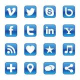 Социальные значки средств массовой информации бесплатная иллюстрация