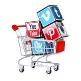 Социальные значки средств массовой информации Стоковое Изображение