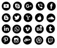 Социальные значки средств массовой информации Стоковые Изображения