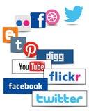 Социальные иконы сети бесплатная иллюстрация