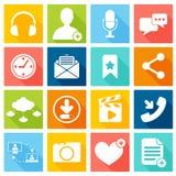 Социальные иконы сети Стоковая Фотография