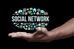 Социальные иконы сети Стоковые Изображения RF