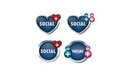 Социальные иконы сети Стоковая Фотография RF