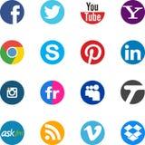 Социальные иконы Стоковое Изображение