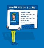 Социальные идентичность или профиль сети Стоковое фото RF