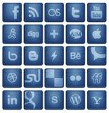 Социальные кнопки 1 средств массовой информации иллюстрация вектора