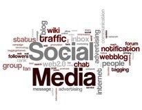 Социальные ключевые слова средств массовой информации Стоковое Изображение