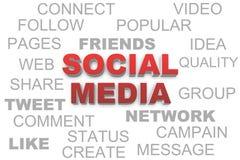 Социальные медиа Стоковые Изображения
