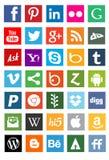 Социальные логотипы сети средств массовой информации Стоковая Фотография RF