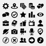 Социальные сетчатые установленные значки Стоковые Изображения RF