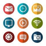 Социальные средства массовой информации и дизайн сети Стоковые Изображения RF