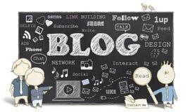 Социальные средства массовой информации с Blogging Стоковое фото RF