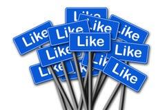 Социальные средства массовой информации любят значок Стоковое фото RF