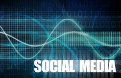 Социальные средства массовой информации Стоковое Изображение RF
