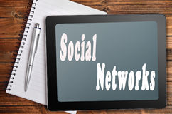 Социальные слова сетей Стоковое фото RF