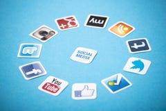 Социальные apps средств массовой информации Стоковая Фотография
