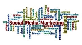 Социальный выходить на рынок средств массовой информации Стоковое фото RF