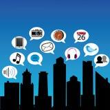 Социальный город Стоковое Изображение RF
