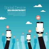 Социальный прибор Стоковое Изображение