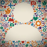 Социальный профиль средств массовой информации иллюстрация штока
