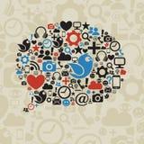 Социальный пузырь речи средств массовой информации иллюстрация вектора