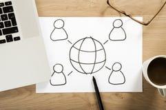 Социальный план стратегии средств массовой информации Стоковые Изображения RF