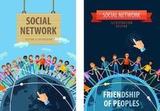 Социальный шаблон дизайна логотипа вектора сети иллюстрация штока